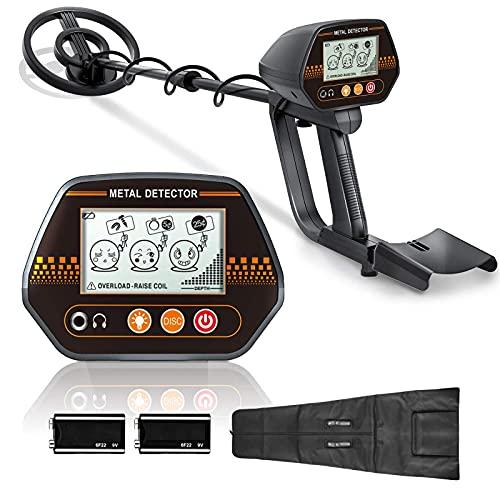 Metalldetektor, Metallsuchgerät für Erwachsene und Kinder, mit wasserdichter Suchspule & LCD Display-MMD02