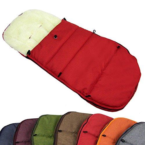 BAMBINIWELT BUGABOO Winterfußsack Cameleon, Sitzauflage, mit Wolle (Mod-K) (rot)