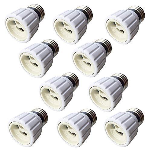 zrui cian 10unidades E27a GU10para bombilla adaptador para lámparas LED