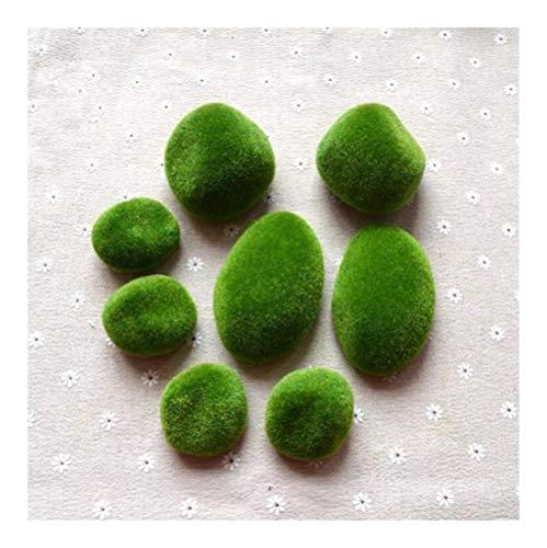 Restos 8pcs / lot artificial Espuma Moss hierba piedras Briófitas planta de Bonsai for el otoño Inicio de boda decoración de jardín en miniatura Dollouse Nunca ( Color : 8 pieces , Size : 8 pieces )