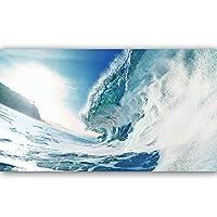 ポスターシーウェーブビーチのQuadroキャンバスは、ホームインテリアポスターを絵画や版画ウォールアートの写真のためにリビングルーム (Color : 1037landscape, Size : 50X90cm)