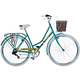 Damenrad 700c Hollandrad Stadtrad 28 Zoll Galano Blush 7 Gang Fahrrad Damen City (türkis, 48 cm)