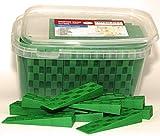 Plastic Wedge - for Using as Door Wedges, Window Wedges, Flooring Spacers - Universal Plastic Shims - 4.5'х1.2'х0.7' - Green - 85 per Pack