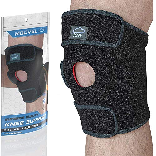 Modvel Knee Compression Sleeve for Pain Relief - Breathable 3D Knitted Knee Brace for Men and Women...