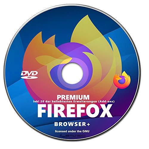 BROW SER FIRE FOX inkl. 20 beliebteste Erweiterungen (Add-Ons-Paket) Youtube Downloader, Video und Music Downloader, Anonym Surfen, NEU auf DVD
