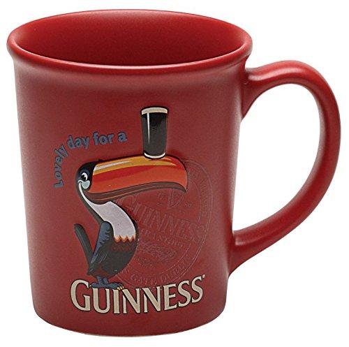 McLaughlin's Irish Shop Großer Irischer Becher mit geprägtem Guinness Tukan Logo