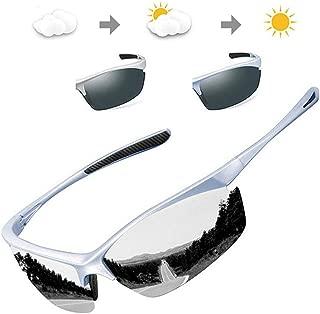 Sports Polarized Sunglasses Mens Womens Cycling Photochromic Frame Glasses