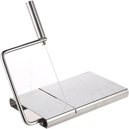 Anself Stainless Steel Cheese Slicer Cake Cutting Board Kitchen Bakeware Tool Silver