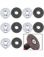 Tillbehör för elektriska vinkelslipare, BETOY 5 par vinkelslipmaskin reservdel robust och hållbar inre yttre flänsmuttrar för Makita 9523, 3 x 1 x 1 cm (silver och svart)
