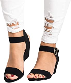 HULKAY Wedges Heel Sandals for Women丨Summer Newest Beach Ankle Strap Buckle Low Wedge Sandal丨Women's Casual Open Toe Sandals
