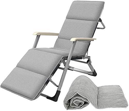 UIZSDIUZ Sedie a Sdraio Sdraio Regolabile gravità Zero Lounge Chair Imbottito Poltrone for Heavy Persone, all'aperto Prato Spiaggia Sedia Portatile Reclinabile