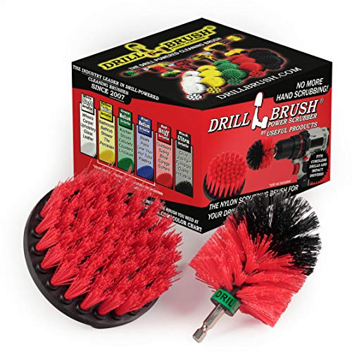 Outdoor - Horse - Farm - Barn - Cleaning Supplies - Drill Brush - Stiff Bristle Power Scrubber Kit for - Rubber Mat - Water Trough - Buckets - Concrete - Stone - Brick - Spin Brush - Concrete Pools