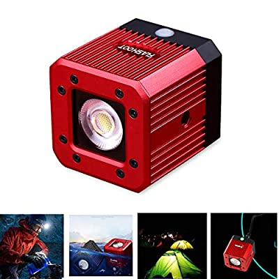 """Dazzne Waterproof LED Video Light 8W 200LUX/1M Aluminum Alloy Mini Diving Underwater Lighting with 1/4"""" 20 Screw Hole for Drone,DSLR, Smartphone,GoPro, Camcorder-Waterproof 20M"""