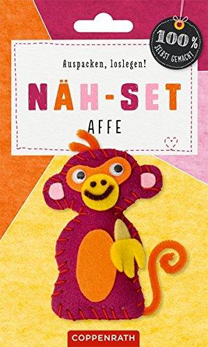 Näh-Set: Filzanhänger Affe (100% selbst gemacht)
