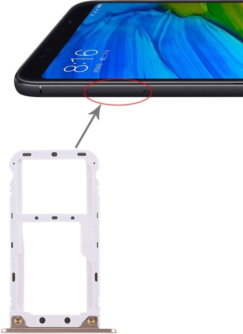 LINSHAOHUI 2 Bandeja de la Tarjeta SIM/Bandeja de la Tarjeta Micro SD for Xiaomi Redmi 5 Plus (Color : Gold)