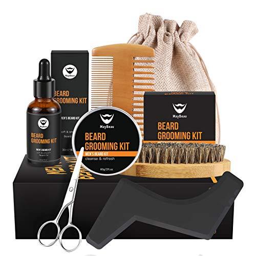 5. Kit de barba MayBeau | Peine y pincel de barba para un total de 4 dientes.