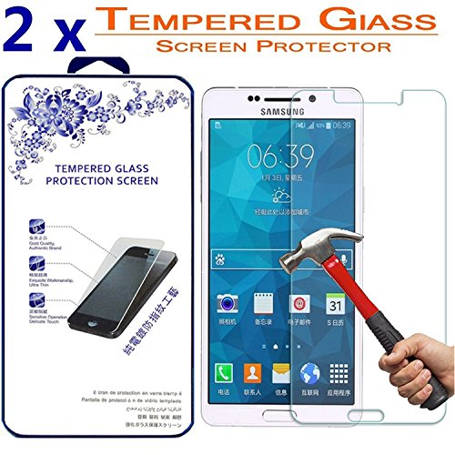 2X Glass Screen Protector for Samsung Galaxy A5 2016 / SM-A510F, [2 Pack] Ballistic Tempered Glass Screen Protector ([2 Pack] for Samsung Galaxy A5 2016 / SM-A510F)