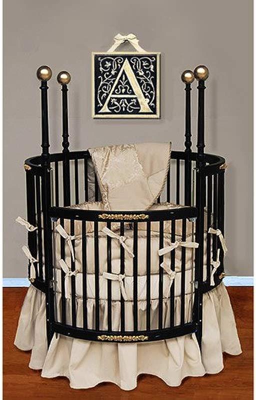 Baby Doll Bedding Sensation Round Crib Bedding Set Gold