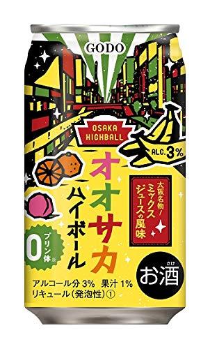 合同酒精 リキュール 缶チューハイ オオサカハイボール ミックスジュース風味 350ml缶 1ケース24本入