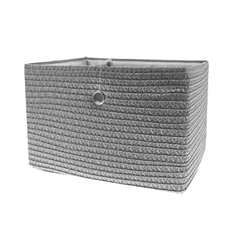 FRANDIS 181104 Paniers de Rangement Gris Matière : PP + térylène à l'intérieur, poignée en INOX Dim Produit : 33 x 26 x 23 cm