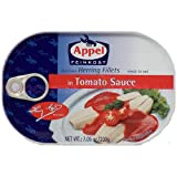 Appel Herring Fillets in Tomato Sauce 7.05 Oz Tins (Pack of 5)