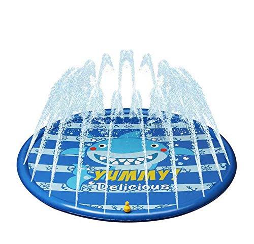 OUTGJL Splash Pad,Estera De Rociado De Agua Al Aire Libre, Piscina De Rociado De Césped para Niños, Juguetes para Rociar Agua, Juegos para Bebés, Piscina De Baño De Agua, Piscina para Niños, Azul