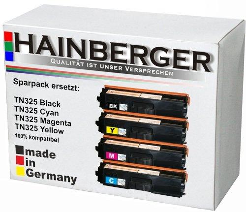 4x Hainberger Toner Set für Brother, kompatibel zu TN 320/ 325/ 328