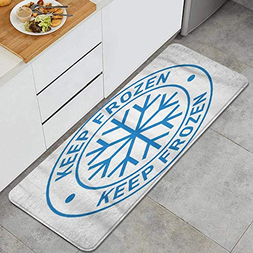 DAOPUDA Anti-fatigue kitchen mat non-slip thickened kitchen carpet,Food Keep Frozen Storage in Refrigerator and Freezer,Anti Fatigue Mat Cushioned Comfort Floor Mats45x120cm