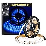 SUPERNIGHT (TM) 16.4FT 5M SMD 5050 Waterproof 300LEDs Blue LED Flash Strip Light,LED Flexible Ribbon Lighting Strip,12V 60W