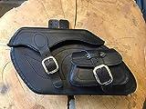 ORLETANOS Retro Black Satteltaschen Seitentaschen kompatibel mit Harley Davidson Chopper...
