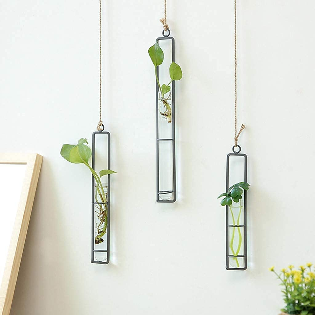 Bigsee National products 3 Pcs Different Length Test Los Angeles Mall Bu Planter Glass Tube Hanging