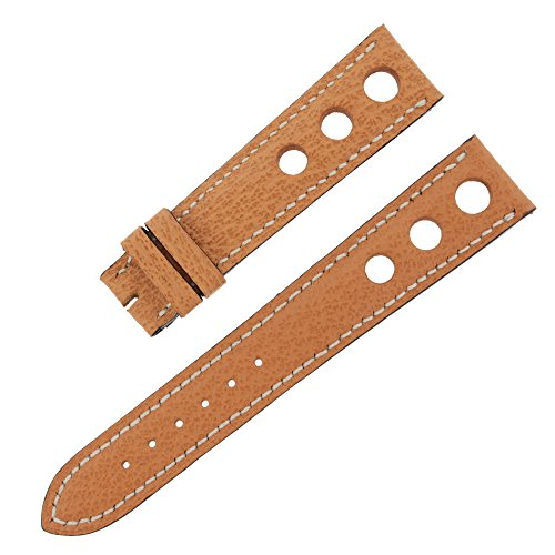 Chopard 19 -16 mm Genuine nocciola in pelle da uomo Watch Band