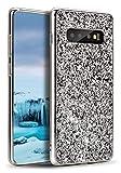 E-desire Samsung Galaxy S10 Case, Glitter Case for Samsung Galaxy S10 case,Crystal Sequins Design Bling Sparkle Soft TPU Proective Cover for Samsung Galaxy S10 Case-Silver