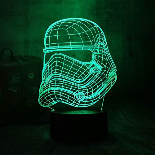 Lampe Illusion 3D Led Veilleuse Nuevo Star Wars Stormtroope Imperial Luz De Noche 7 Colores Chang Bebé Lámpara De Escritorio Decoración Del Hogar Vacaciones Chico Regalo