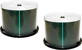 MediaPro Blank CD - Waterproof Glossy Professional Grade White Inkjet Hub Printable CD-R - 100 Pack - Photo-Quality Prints...