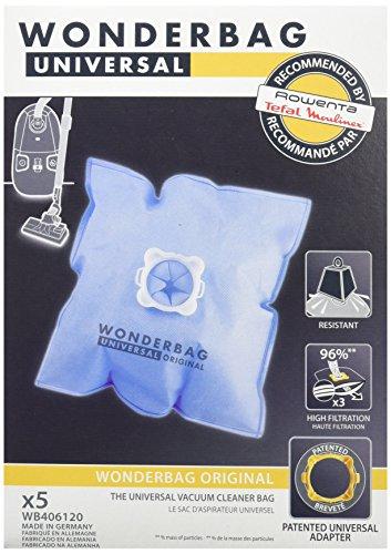 Rowenta Accesorio PAE Limpieza WB406120 Bolsa ASP.WONDERBAG, Textil, azul