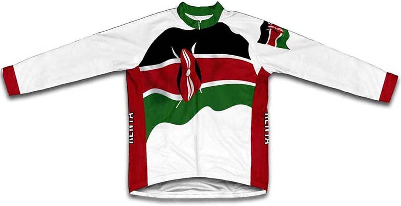 Kenya Flag Long Sleeve Cycling Jersey for Women