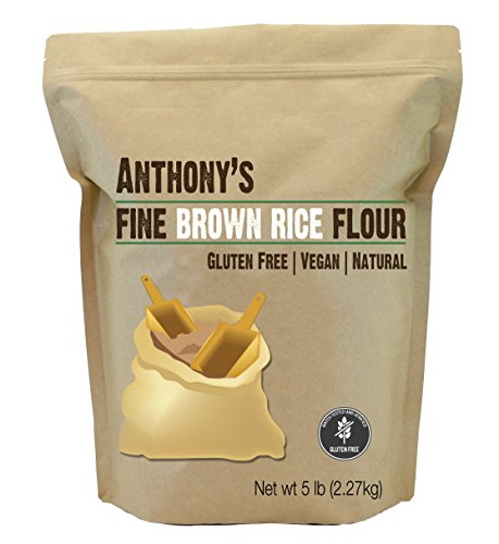 Anthony's Brown Rice Flour, 5lbs, Batch Tested and Verified Gluten Free, Product of USA