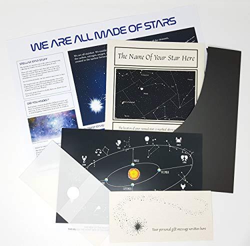 Name a Star Gift - Nomina una stella, set regalo con Swarovski® a forma di cuore e cartellina elegante