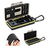 Durable Water-Resist PC Shell Storage Case Holder with DIY Foam for GoPro Hero 9 8 7 6 Hero9 Hero8 Hero7 Hero6 DJI OSMO Pocket OSMO Action Camera and Battery, Charger, microSD, Card Reader & More