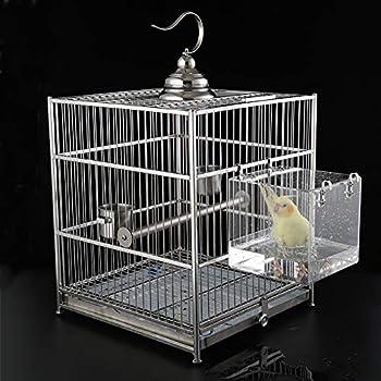 TONGXU Bain acrylique pour oiseaux Boîte suspendue pour baignoire à oiseaux Douche Maison de bains d'oiseaux 13 x 11 x 13 cm