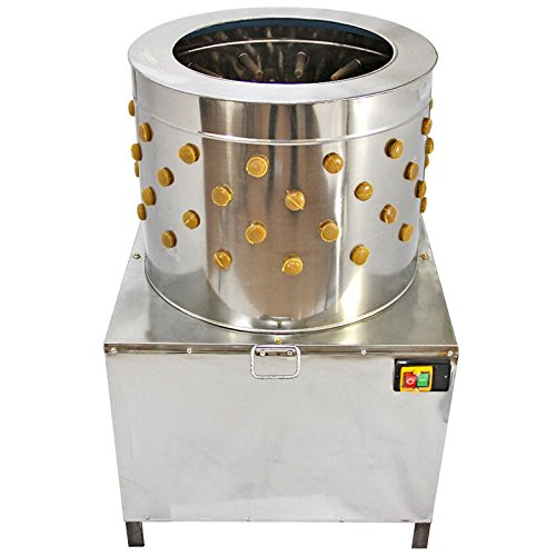 DCHOUSE Plucker di pollo Pollame Plucker Turchia Plucker di pollo Machine 50cm Stainless Steel 1500W