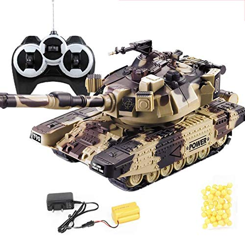 YU-NIYUT 1:32 Military War RC Battle Tank Heavy Large Interactive Remote Control Toy Car Vehicle Toys for Boys Kids and Adults