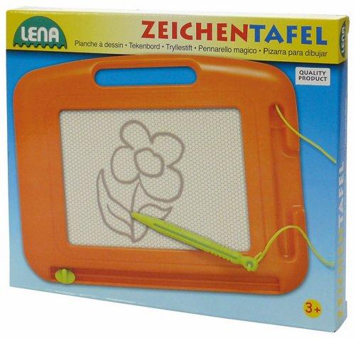 Lena 65696 Zeichentafel, ca. 20 cm, 2 Fach Sortiert, Orange