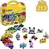 WXX 213 Piezas de Lego Creativo clásico Maleta con Ruedas y los Ojos, portátil Bloque Hueco Juguetes, Regalos de cumpleaños de los niños