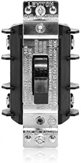 Leviton MS302-DS 30 Amp, 600 Volt, Double- Pole, Single Phase AC Motor Starter, Suitable as Motor Disconnect, Industrial Grade, Non-Grounding, Black