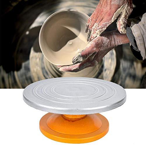 Drehteller, Tonmaschine, Töpferscheibe mit Antihaft-Oberfläche für Arbeiten in Keramik, Keramik, Töpferei, Modelbau, Tondesign, Kuchendekoration, max. Traglast 50 kg, 29,5 × 11,4 cm