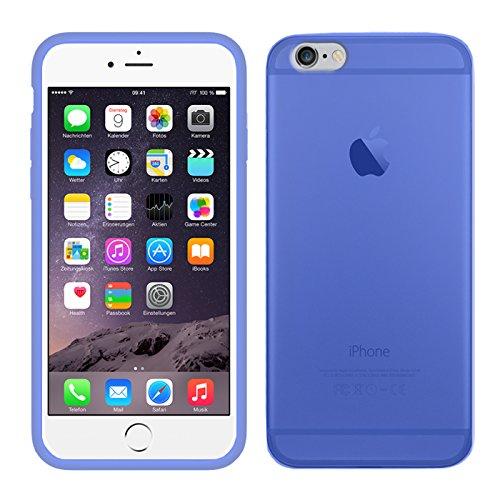 TBOC® Funda de Gel TPU Azul para Apple iPhone 6 Plus / 6S Plus (5.5 Pulgadas) de Silicona Ultrafina y Flexible