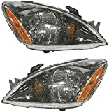 Headlight Set of 2 for 2004-2007 Mitsubishi Lancer ES 4-Door Sedan Right and Left Side Assembly Halogen Sedan/Wagon