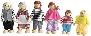 Kunhe Dollhouse Dolls Set with 6 Happy Family Dolls for Dollhouse